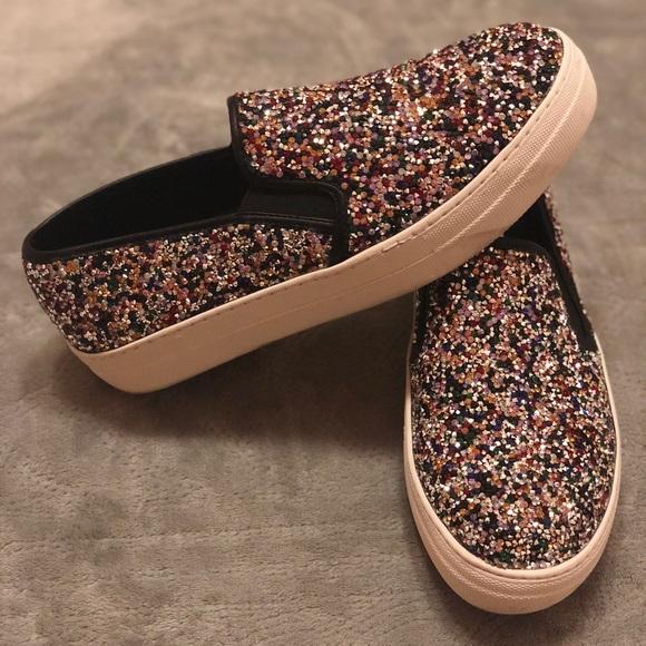 a1ee15803 Steve Madden sparkly Platform slip on Shoes SZ 9. M_5b84ddfed8a2c76e320dd3fc